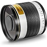 Walimex Pro 500mm 1:6,3 DSLR Spiegel-Teleobjektiv für Canon EF Objektivbajonett weiß (manueller Fokus, für Vollformat Sensor gerechnet, Filterdurchmesser 34mm, inkl. Schutzdeckel und Objektivbeutel)