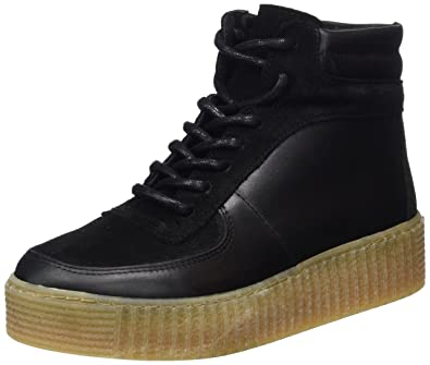 Pieces PSPALOMA LEATHER SNEAKER - Baskets montantes noir 5I6kNmCXi