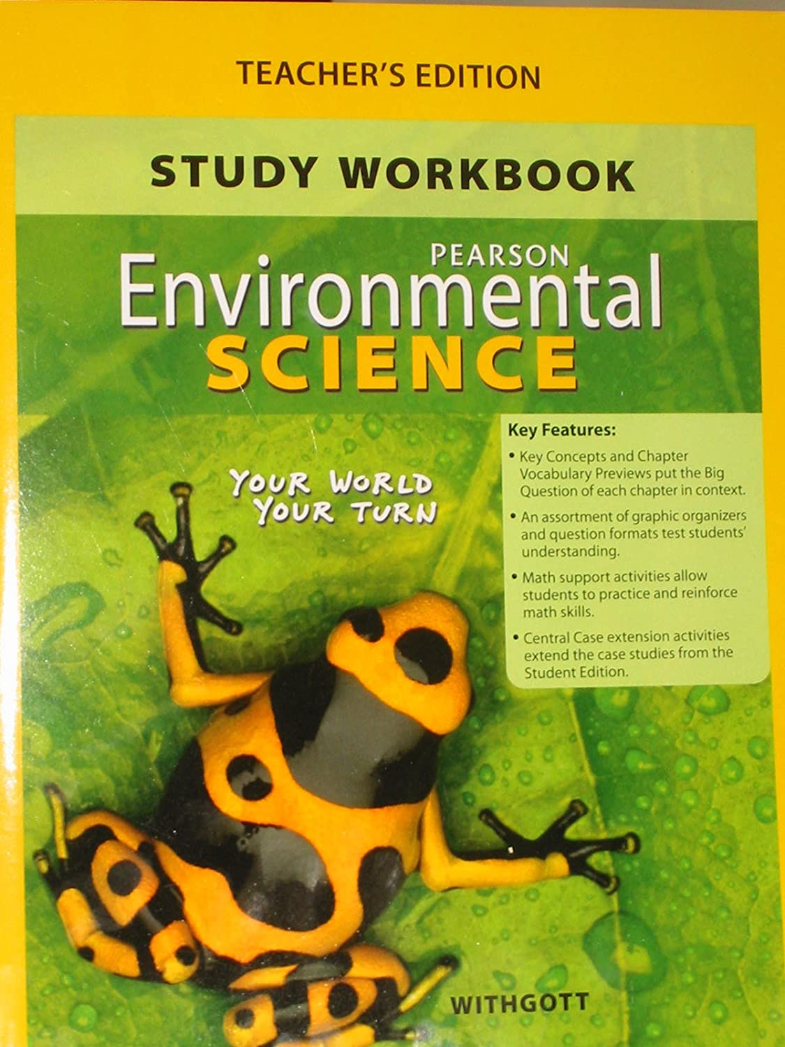 Amazon.com: Study Workbook for Environmental Science: Your World Your Turn,  Teacher's Edition: Withgott: Health & Personal Care