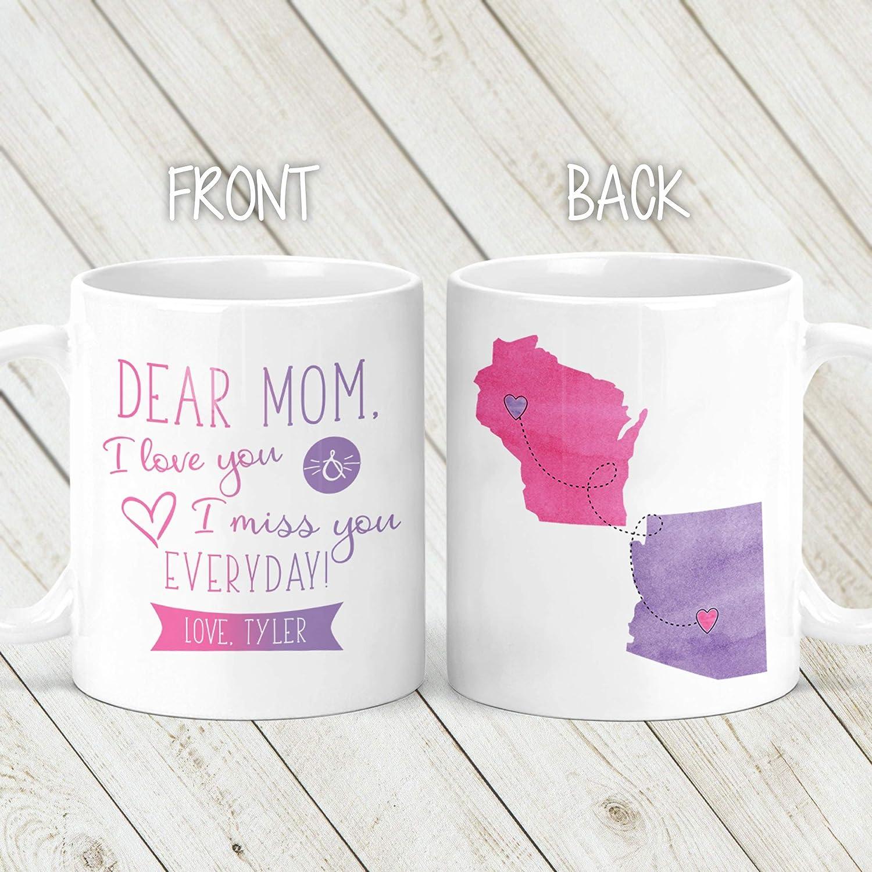 Dear Mom Personalized Long Distance Coffee Mug