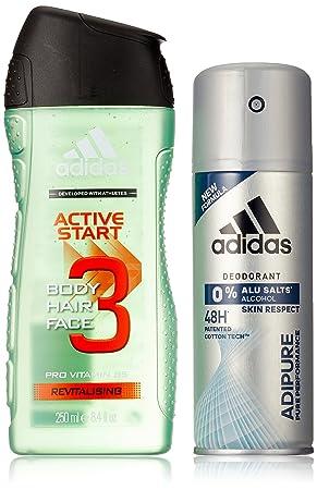 Adidas Adipure Deo + Active Start Shower Gel, 400 ml: Amazon