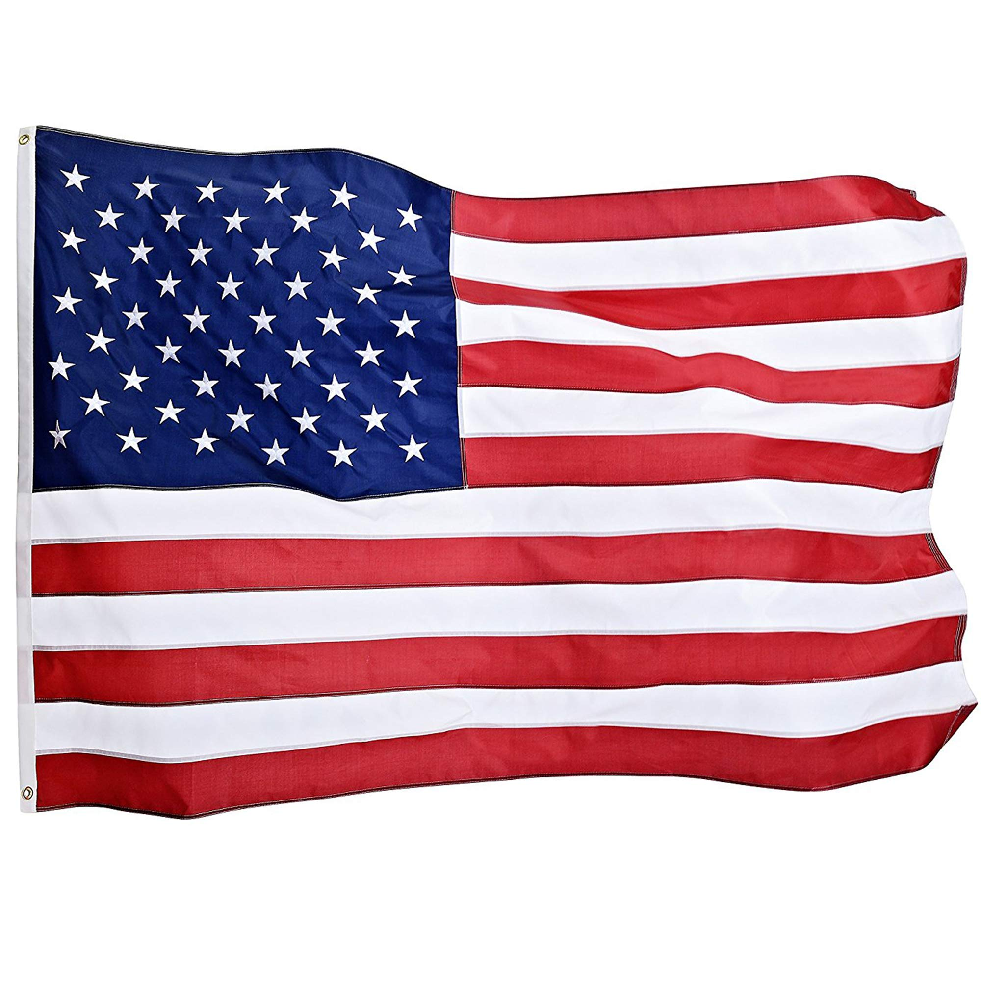 American Flag: Top Quality 4x6FT US Flag- Heavy-Use Nylon w/ Embroidered Stars & Sewn Stripes - Deluxe Fast-Dry, All-Weather USA Flag For Outdoors & Indoors- Fly It With Pride