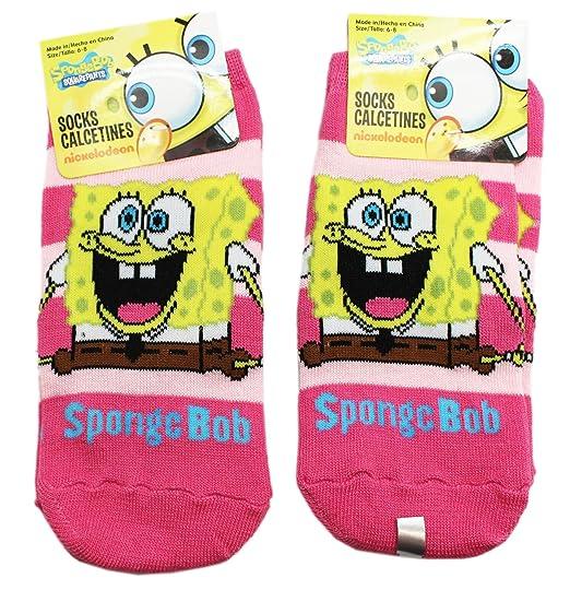 Spongebob Squarepants Jump for Joy Hot Pink Kids Socks (2 Pairs, Size 4-
