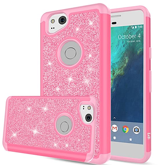 newest 5234f c464c Pixel 2 Case, Google Pixel 2 Case, LeYi Glitter Case with HD Screen  Protector,Cute Girls Women Silicon Shockproof Cell Phone Accessories  Protective ...
