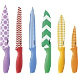 Cuisinart 12-Piece Printed Color Knife Set with Blade Guards, Multicolored