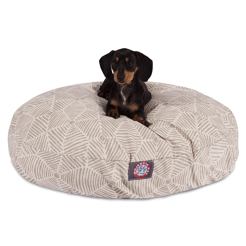 Majestic Pet Charlie Beige Metallic Small Round Pet Bed