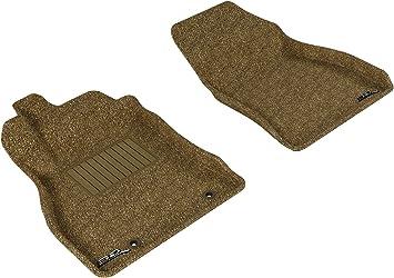 Tan 3D MAXpider Complete Set Custom Fit Floor Mat for Select Nissan Juke Models Classic Carpet