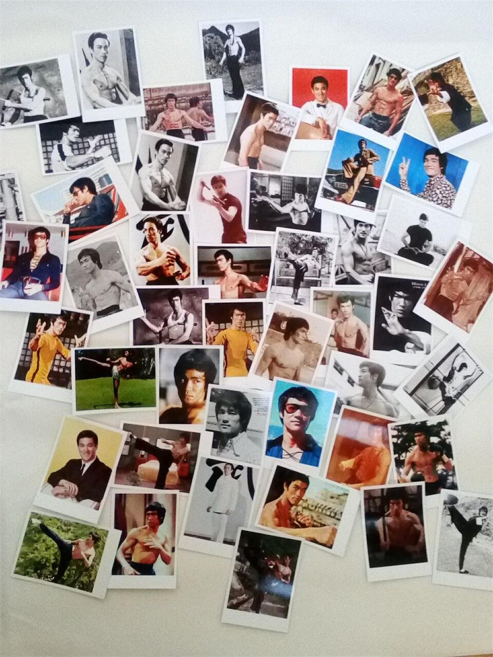 Bruce Lee's 100 photo photos, postcard card