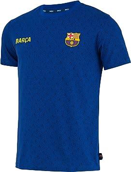 Fc Barcelone Camiseta de algodón Barca - Colección Oficial Talla de Hombre: Amazon.es: Deportes y aire libre