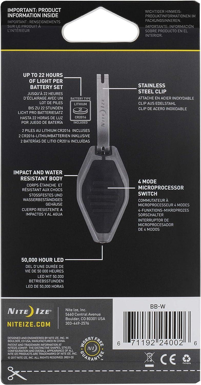 lampe compacte avec clip daccrochage Microlight LED blanche Nite Ize