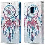 Ooboom® Samsung Galaxy A8 2018 Custodia 3D Magnetico Libro Flip in Pelle PU Cuoio Case Cover con Funzione di Appoggio e Supporto per Samsung Galaxy A8 2018 - Colorato Acchiappasogni
