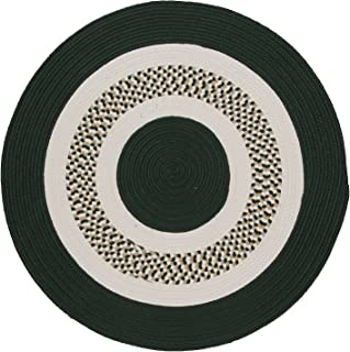 product image for Flowers Bay Round Area Rug, 6-Feet, Dark Green