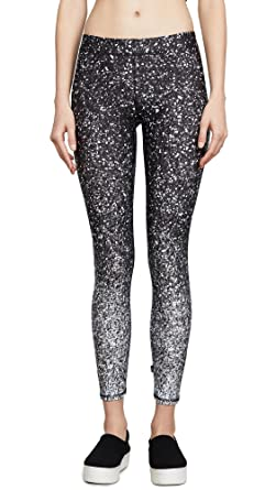 46d6bddaa737f Terez Women's Black & White Glitter Performance Leggings at Amazon ...