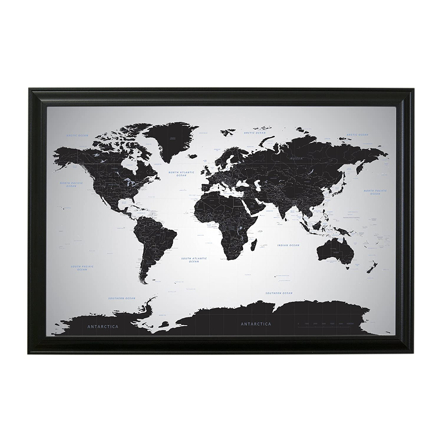 Amazon black ice world push pin travel map with pins 24 x 36 amazon black ice world push pin travel map with pins 24 x 36 black frame posters prints gumiabroncs Images