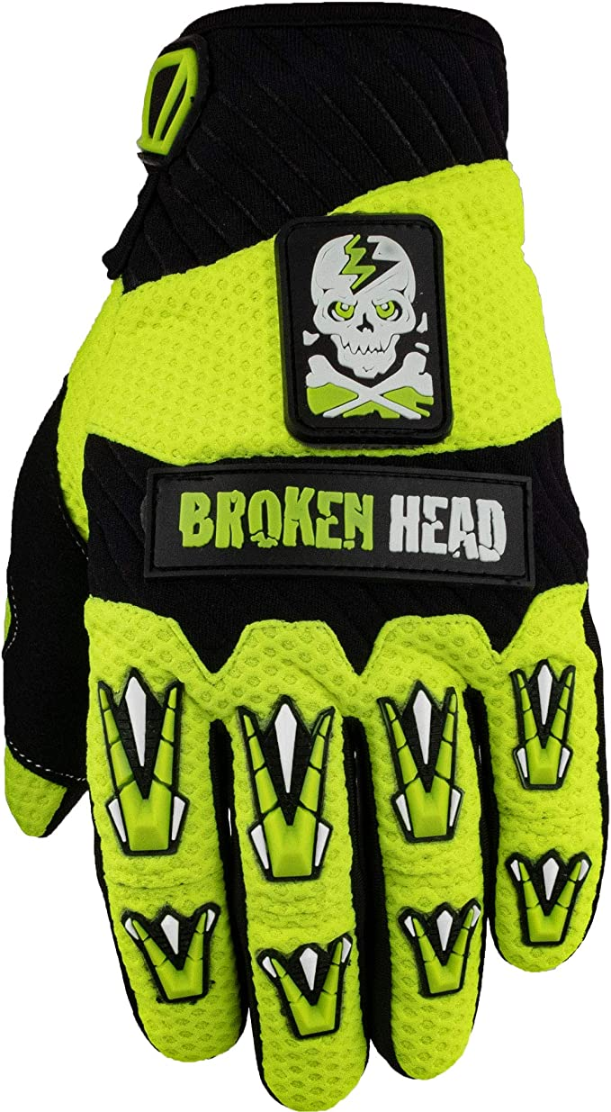 Broken Head Mx Handschuhe Faustschlag Motorrad Handschuhe Für Motocross Enduro Mountainbike Neon Gelb Auto