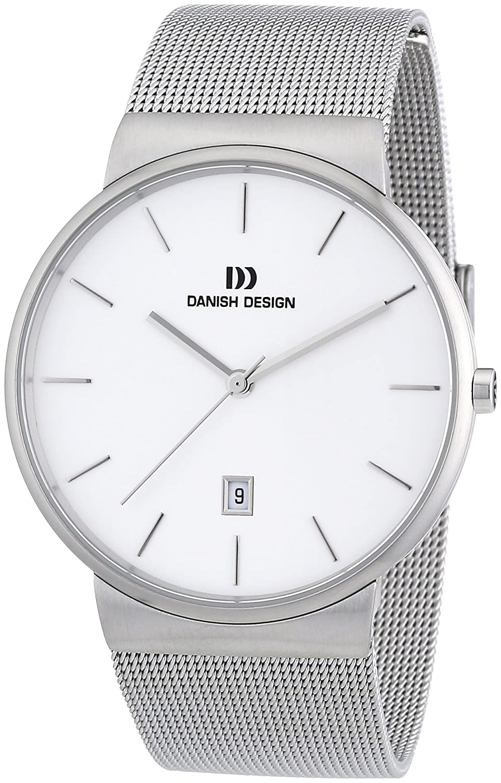 Danish Design 3314410 - Reloj analógico de Cuarzo para Hombre con Correa de Acero Inoxidable, Color Plateado
