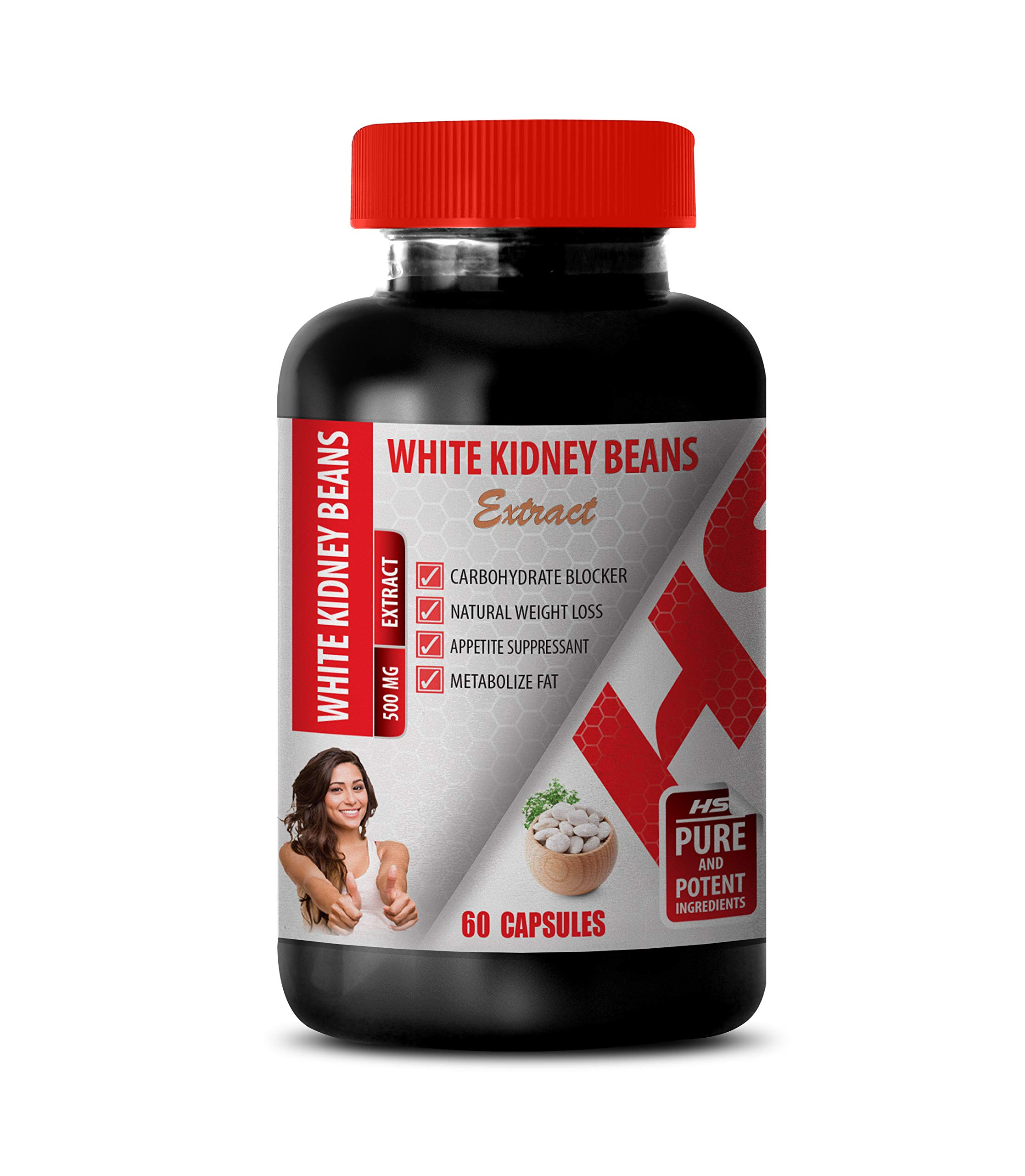 Metabolism Booster Weight Loss - White Kidney Beans 500MG Extract - White Kidney Bean Extract mega - 1 Bottle (60 Capsules)