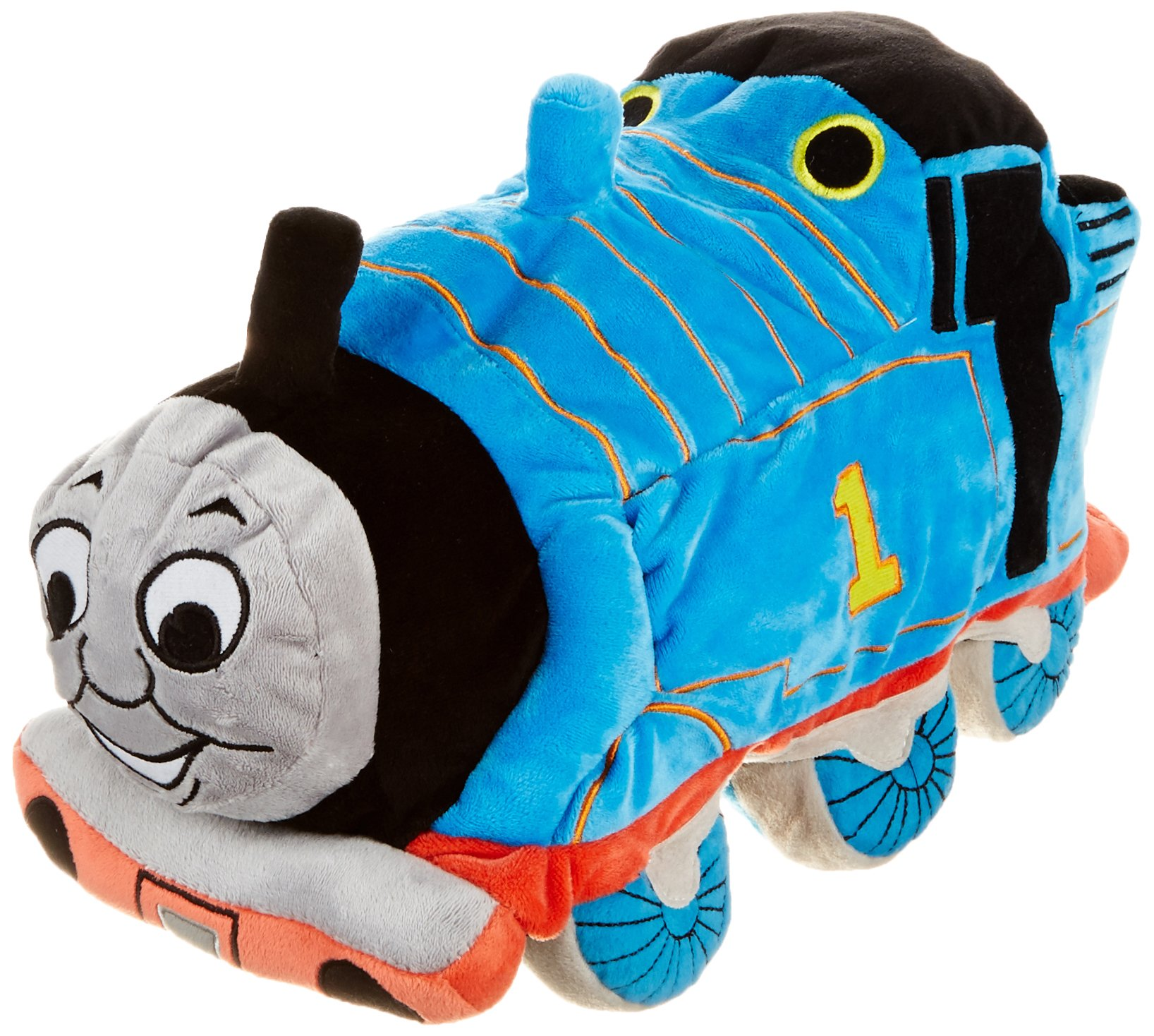 Jay Franco Thomas & Friends Plush Stuffed Toddler Pillow Buddy - Kids Super Soft Polyester Microfiber, 15 inch (Official Mattel Product), D. Thomas by Jay Franco