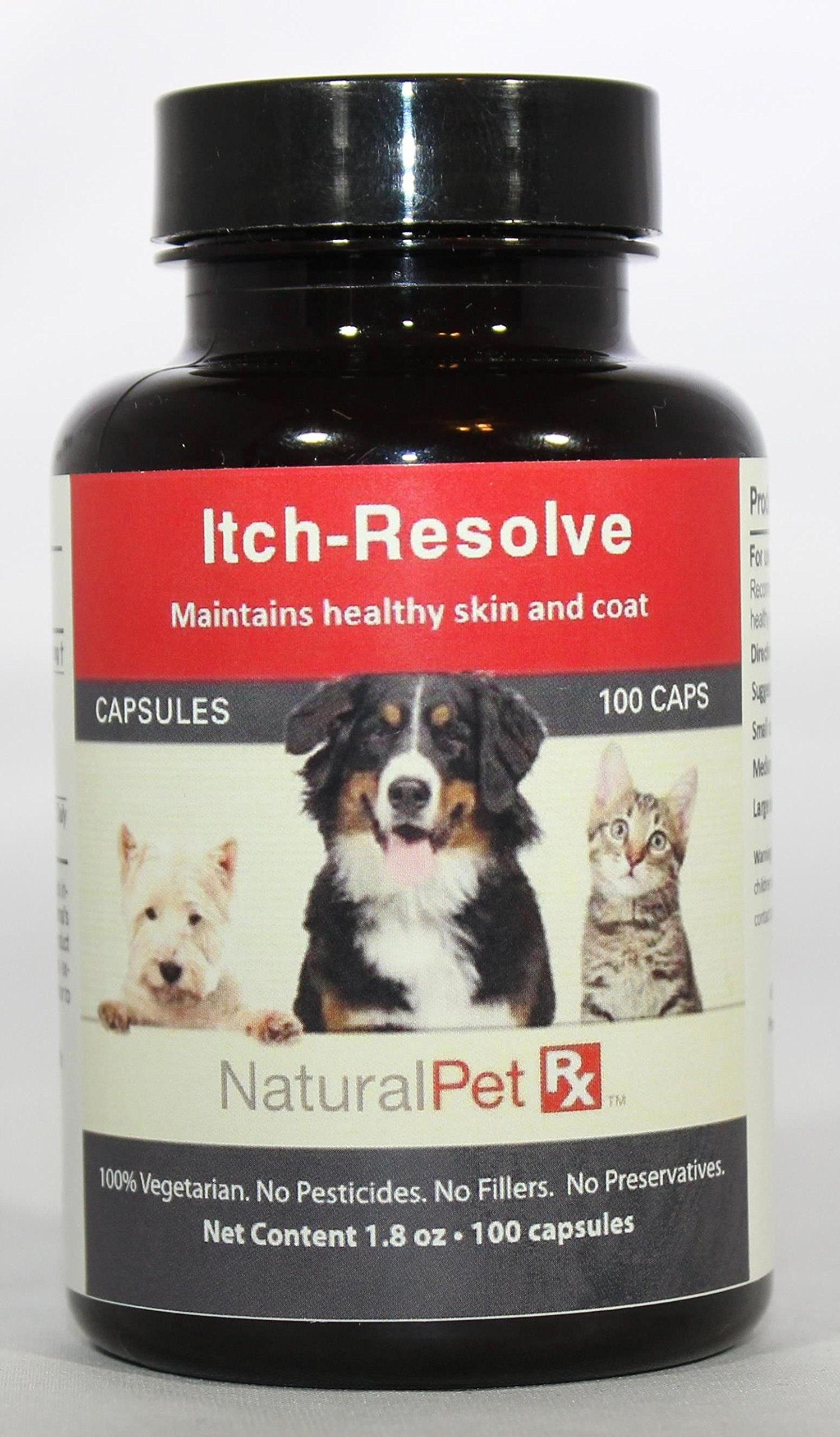 Natural Pet RX Itch Resolve Healthy Skin and Coat Support (100 Capsules)