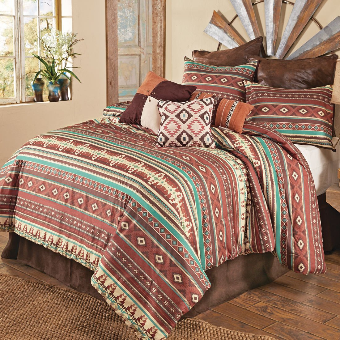 BLACK FOREST DECOR Sante Fe Spice Comforter Set - Cal King by BLACK FOREST DECOR