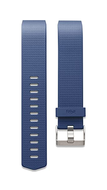 Fitbit Charge 2 Accessory Band, Blue, Large