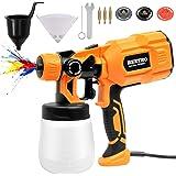 BEETRO High Power Paint Sprayer 3 Copper Nozzles 450ml/min 10pcs 190 Micron Paint Strainers 800ml Container HVLP Electric Pai