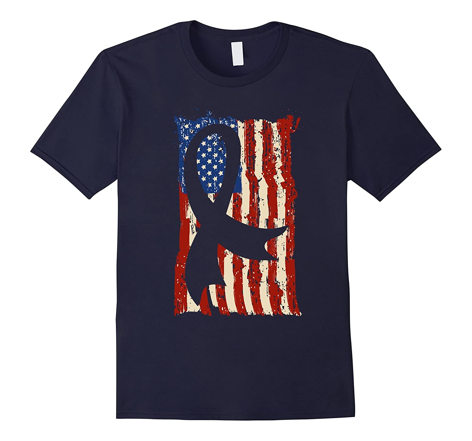 American Flag Breast Cancer Shirts Gift Mom and Grandma-FL