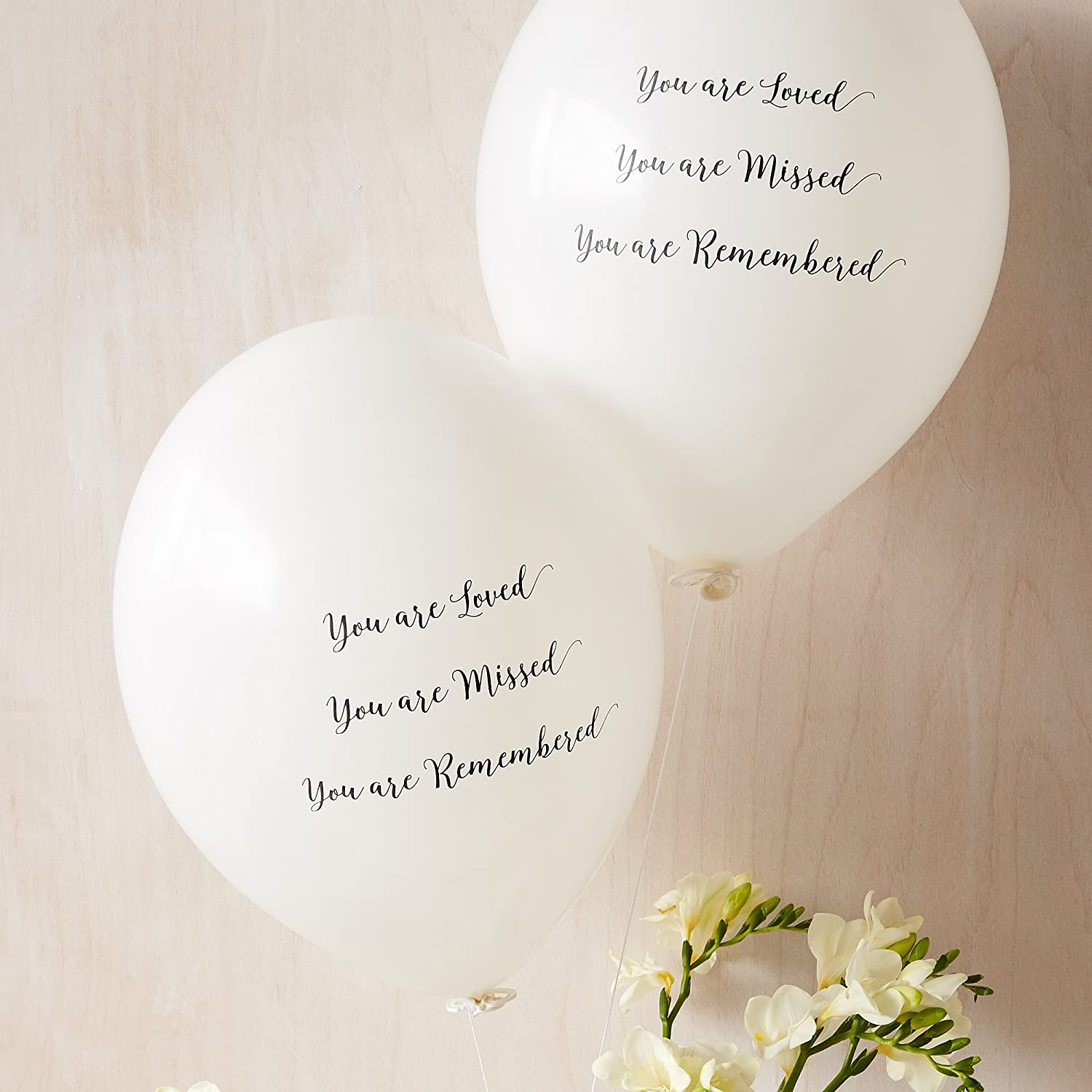 Amazon 25 white you are loved missed remembered amazon 25 white you are loved missed remembered biodegradable funeral remembrance balloons for memory table memorial condolence anniversary by izmirmasajfo