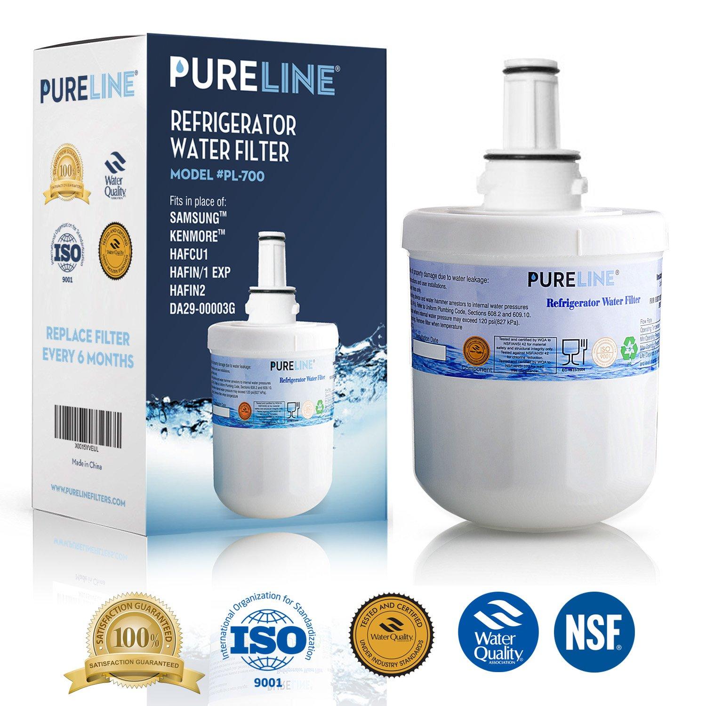 Samsung Aqua-Pure Plus DA29-00003G Refrigerator Water Filter Replacement, Also Fits Aqua-Pure Plus DA29-00003A, DA29-0003B & More - By Pure Line (1 Pack)