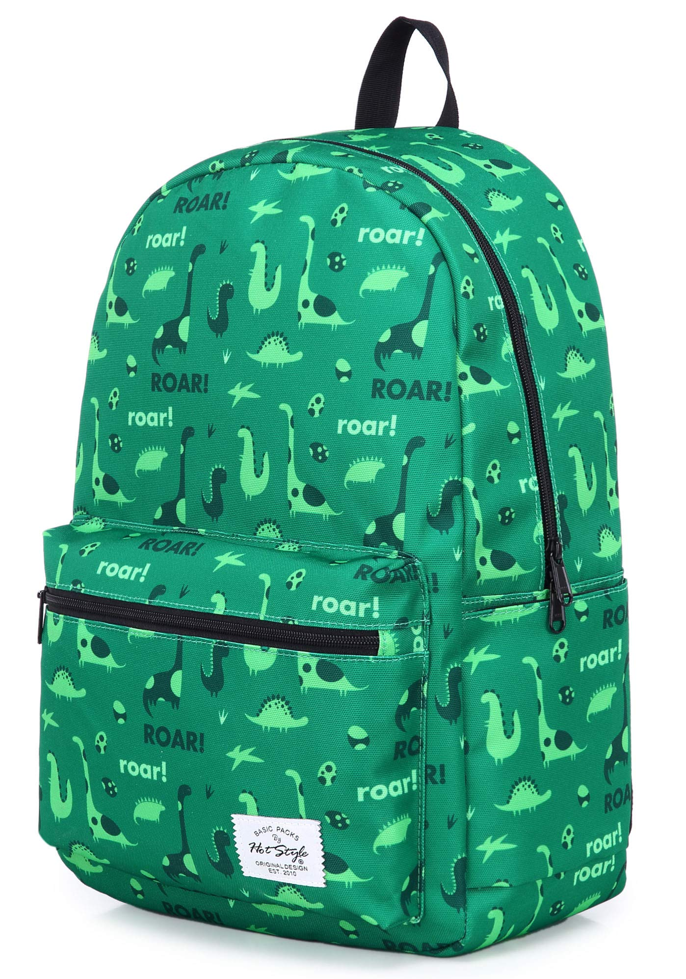 hotstyle TRENDYMAX Backpack Cute for School | 16''x12''x6'' | Holds 15.4-inch Laptop | Dinosaurs, Green