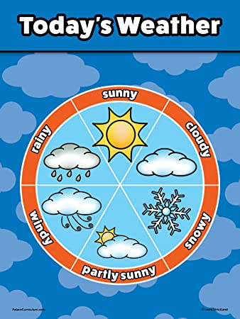 weather chart: Amazon com weather chart for kids laminated 18x24 office