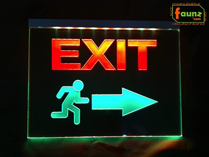 Exit + LED Cartel pictograma (salida de emergencia para ...