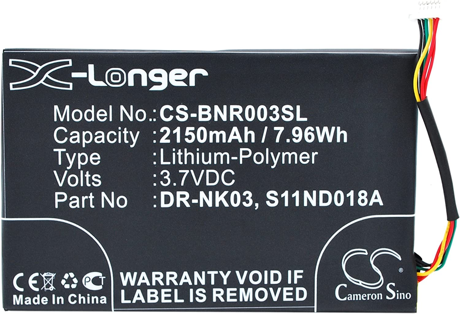 """New Battery for Nook Simple Touch 6/"""" BNRV300 S11ND018A DR-NK03 MLP305787"""