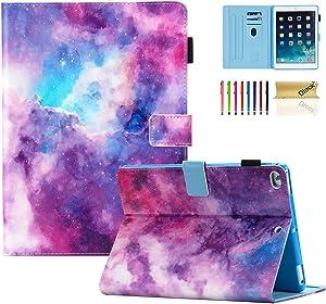 iPad 9.7 inch 2018/2017 Case, iPad Air 2 Case, iPad Air Case, Dteck PU Leather Folio Folding Adjustable Stand Auto Wake/Sleep Smart Wallet Case for Apple iPad 6th / 5th Gen,iPad Air 1/2, Galaxy