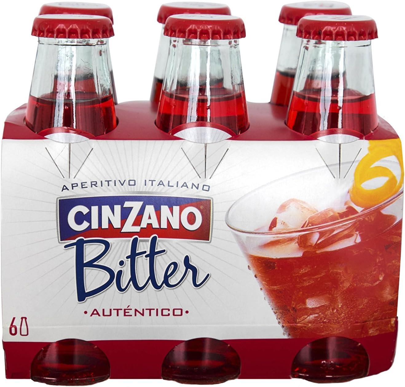 Cinzano Aperitivo Bitter Soda, 6 x 10cl
