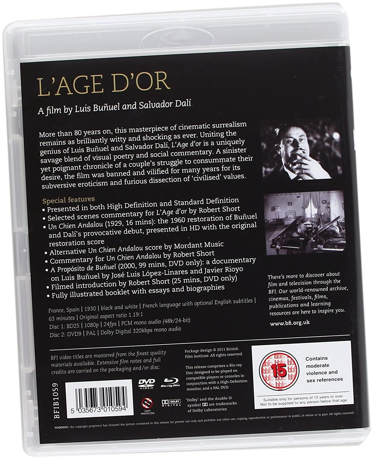 l age d or un chien andalou dvd blu ray amazon co uk l age d or un chien andalou dvd blu ray 1930 amazon co uk luis buatildeplusmnu dalatildeshy dvd blu ray