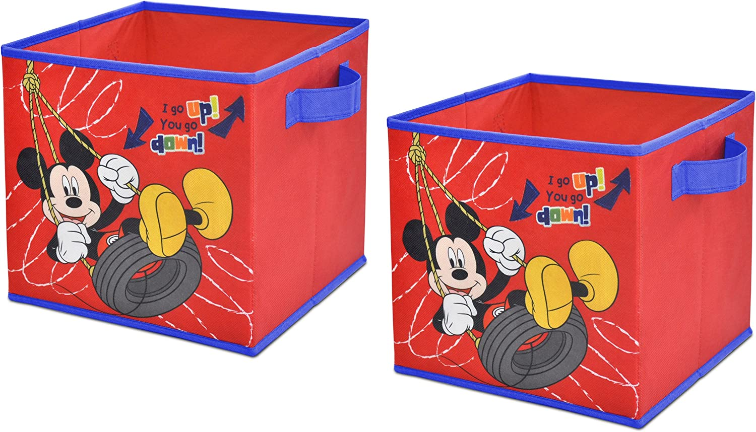 Disney Mickey Mouse Storage Cubes, Set of 2, 10-Inch