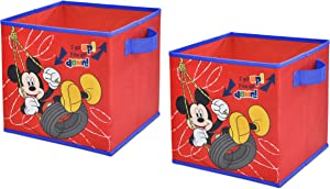 DisneyMickey Mouse Storage Cubes, Set of 2, 10-Inch