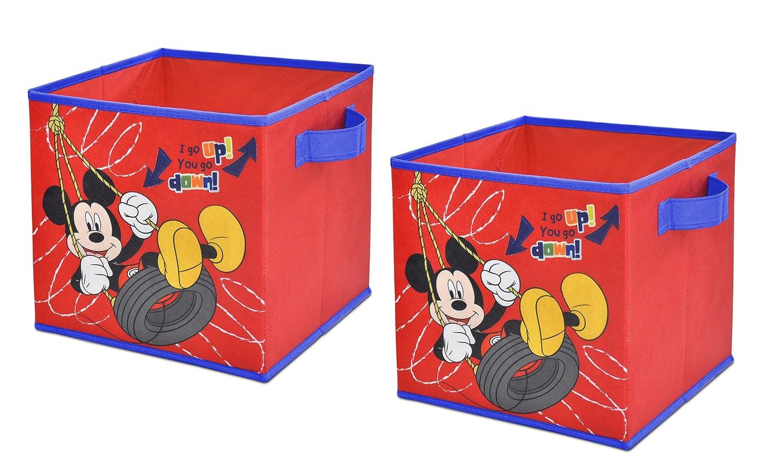Amazon.com: Disney Mickey Mouse Storage Cubes, Set Of 2, 10 Inch: Toys U0026  Games