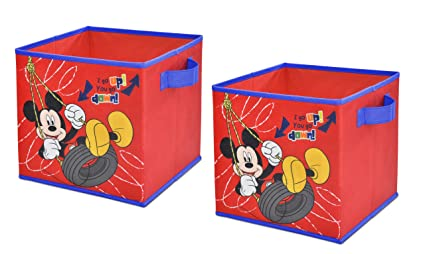 Ordinaire Disney Mickey Mouse Storage Cubes, Set Of 2, 10 Inch