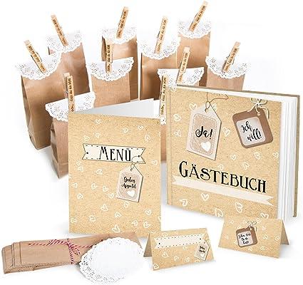 56 Juego de piezas: Visitas boda sí, quiero + 10 tarjetas de menú + 25 tarjetas