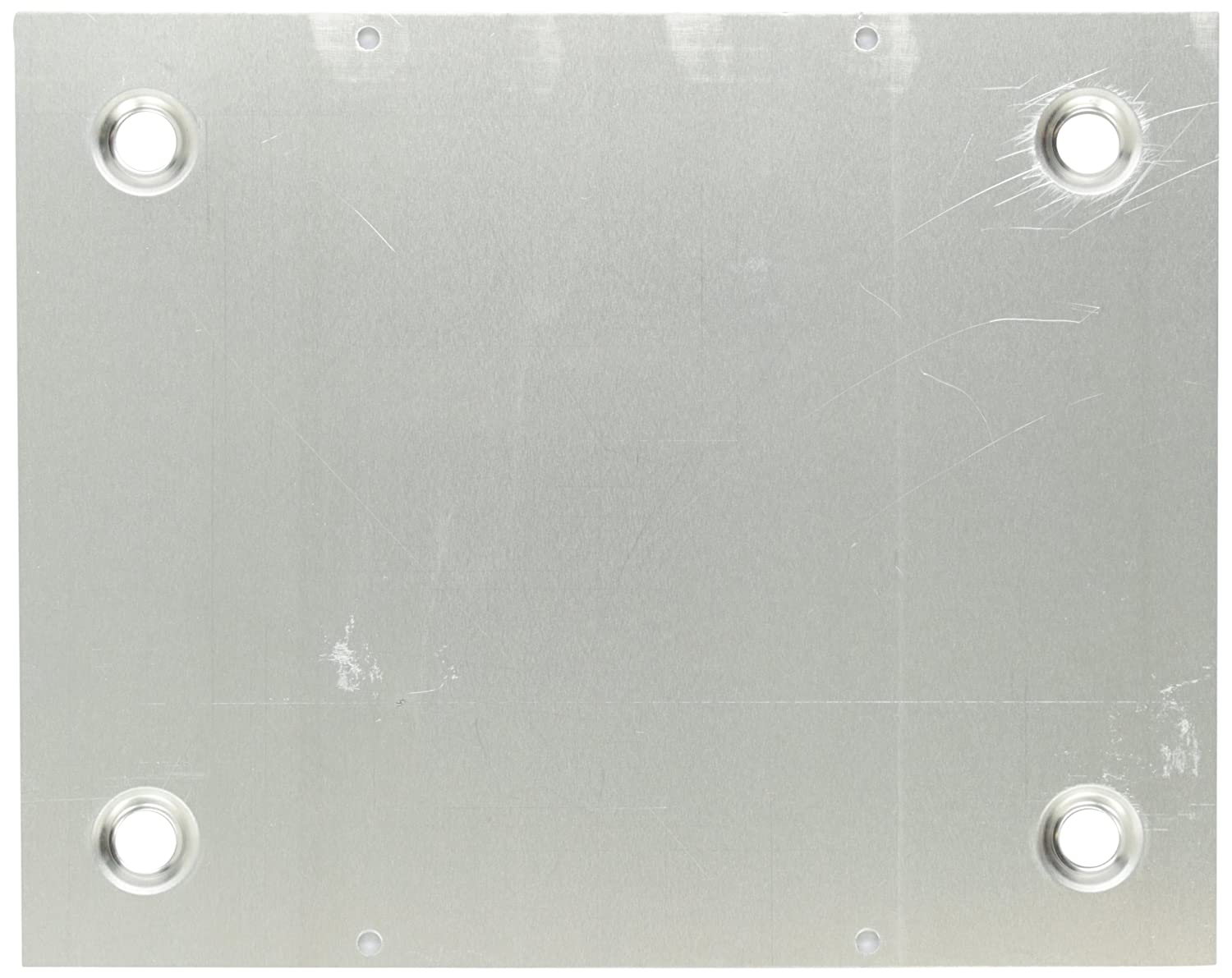 BUD Industries BPA 1518 Aluminum Chassis Bottom Plate 9 51 64 Length x 7 51 64 Width x 9 64 Thick Natural Finish