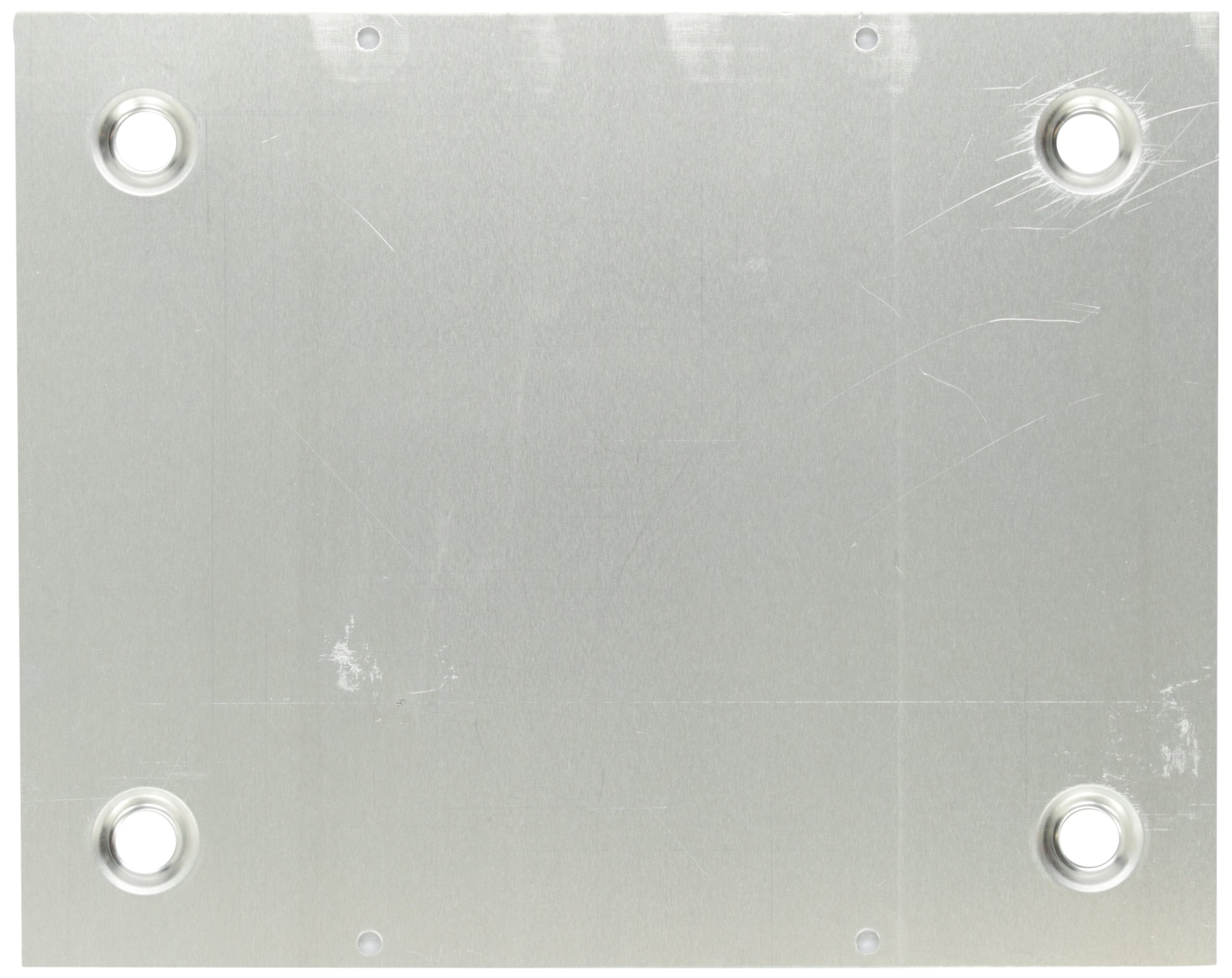 BUD Industries BPA-1518 Aluminum Chassis Bottom Plate, 9-51/64'' Length x 7-51/64'' Width x 9/64'' Thick, Natural Finish