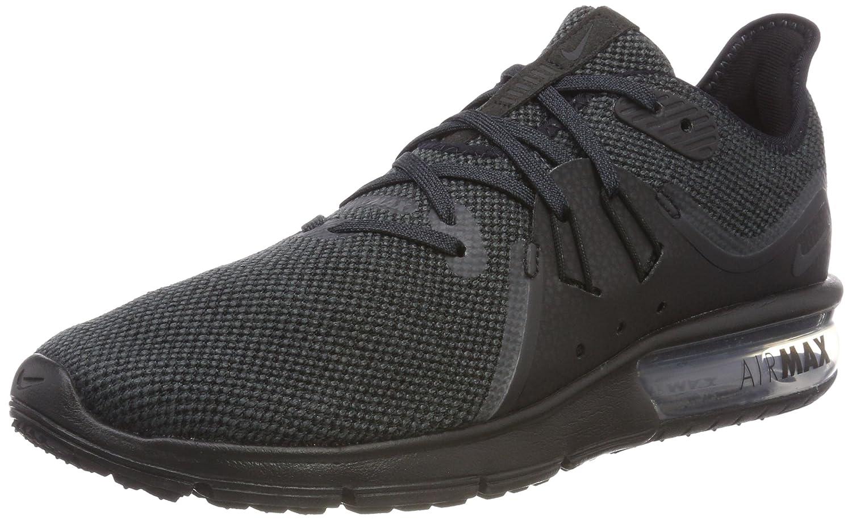 100% nuovo Nike Air Max Sequent 3 Uomo Running Nero/Anthracite