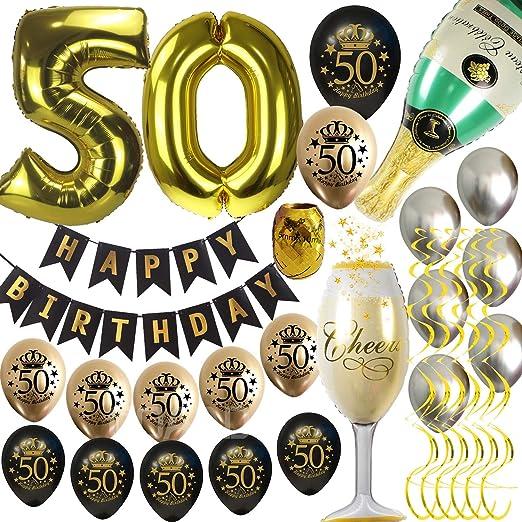 Amazon.com: 50th cumpleaños decoraciones para hombres ...