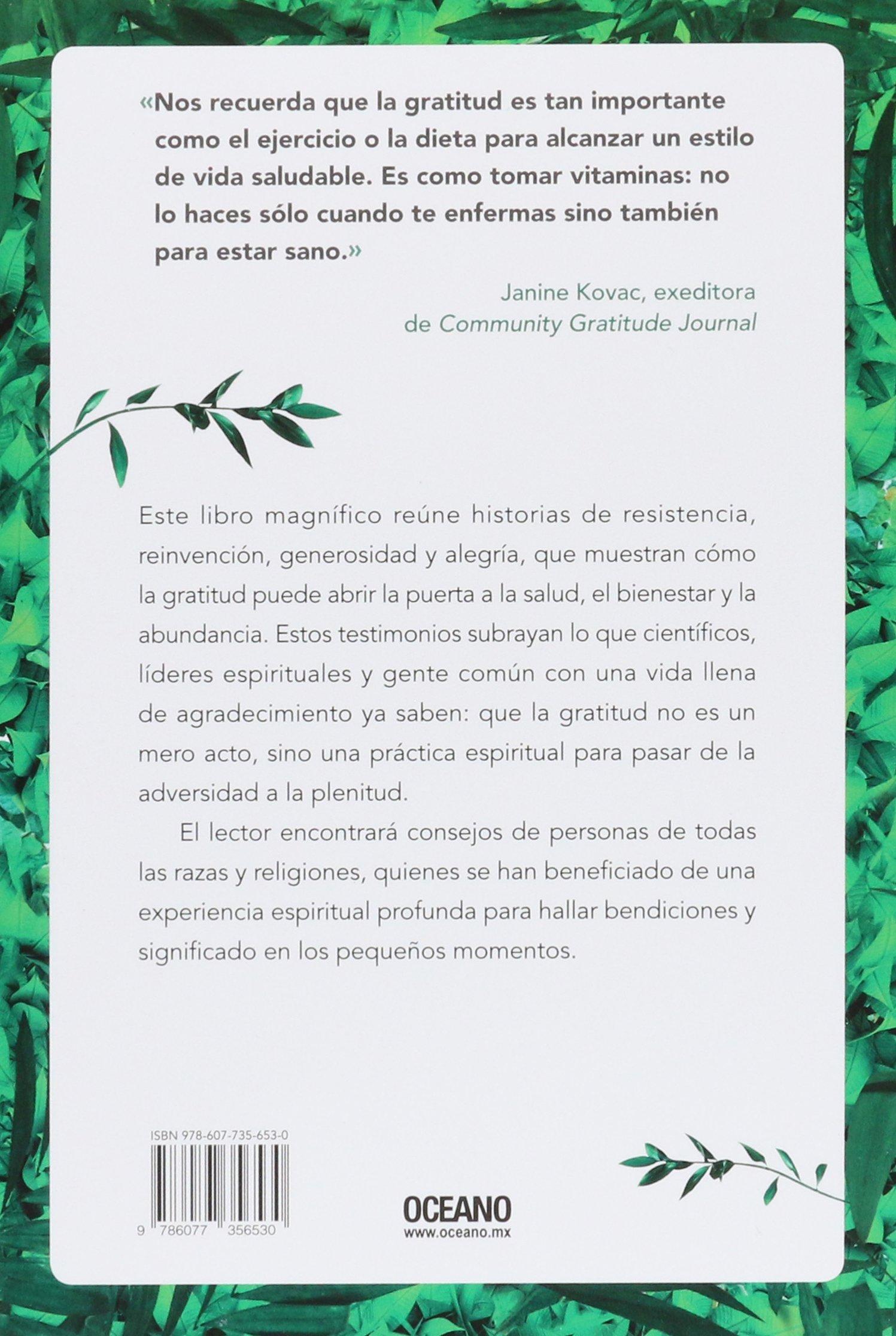 ¡Gracias! Cómo ser feliz y estar en paz con la vida (Spanish Edition): Nina Lesowitz, Mary Beth Sammons: 9786077356530: Amazon.com: Books