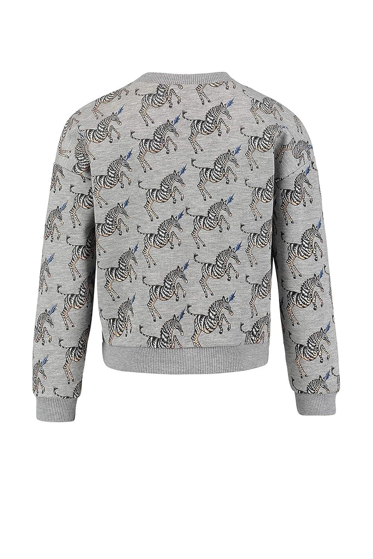 CKS M/ädchen Sweater Gwen Pulli Pullover Zebra Aufdruck Grau Grey