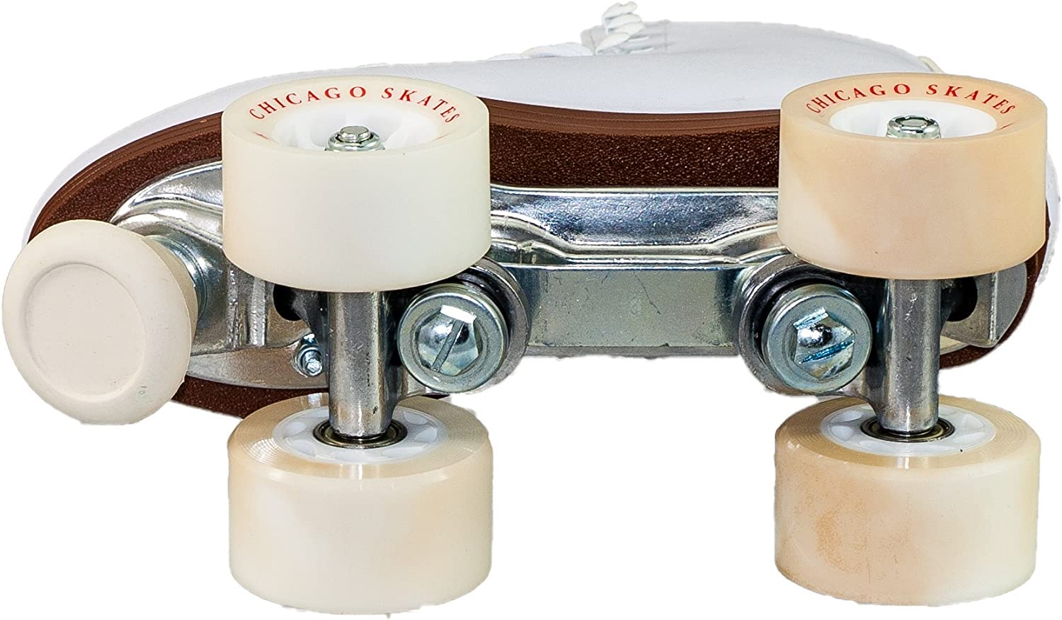 Classic White Quad Skates Chicago Womens Premium Leather Lined Rink Roller Skate