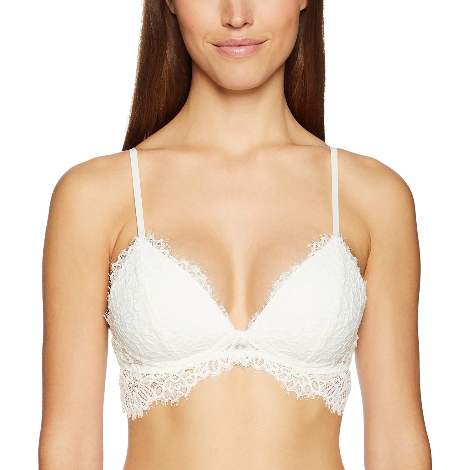 Mae Womens Standard Lighly Padded Eyelash Lace Bralette