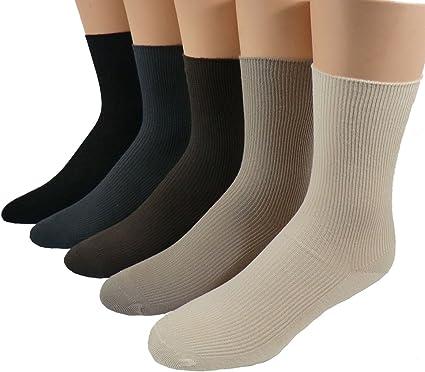 Mujer Saludables calcetines sin goma Paquete De 5 - algodón, Más Colores, 100% algodón 100% natural 100% algodón, mujer, 35/38: Amazon.es: Ropa y accesorios